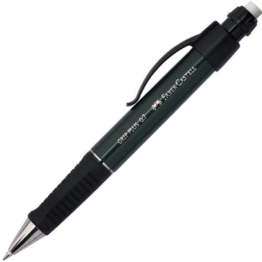 Faber-Castell 130733 - Druckbleistift GRIP PLUS, Minenstärke: 0,7 mm, Schaftfarbe: schwarz metallic -