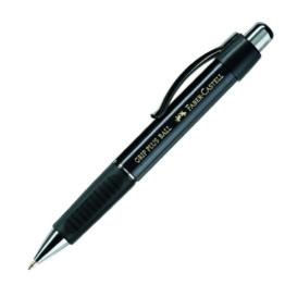 Faber-Castell 140733 - Kugelschreiber GRIP PLUS BALL, Mine: M, Schaftfarbe: metallic schwarz -