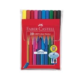 Faber Castell 155310 - Fasermaler GRIP Colour Marker, 10er Etui -