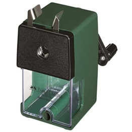 Faber-Castell 180963 - Spitzmaschine - für alle runden, 3eckigen und 6eckigen Stifte, grün -