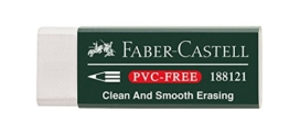 Faber-Castell 188121 - Radierer 7081 N PVC-Free, Kunststoff, weiß -