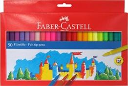 Faber-Castell 554250 Filzstifte, verschiedene Farben, 50 Stück -