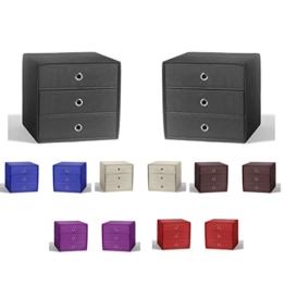 Faltbox 2-er Set mit 3 Schüben Faltboxen Organizer Aufbewahrungsbox Schubkästen (Anthrazit) -