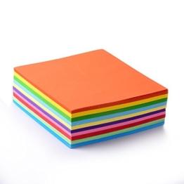 Faltpapier, 500 Blatt 15 x 15 cm, 70 g/qm 10 Farben - bunte hochwertige Faltblätter für Origami und Bastelprojekte -