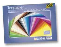 Folia 6725/50 99 - Tonpapier, 130 g/m², 25 x 35 cm, 50 Blatt, sortiert -