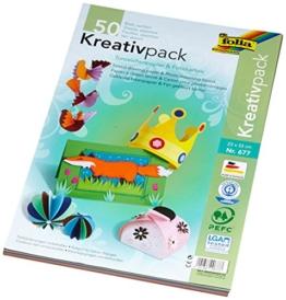 Folia 677 - Kreativpack Tonpapier / Fotokarton, 23 x 33 cm, 50 Blatt, je 25 Farben -