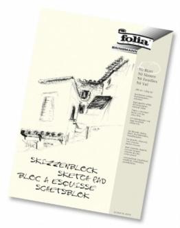 Folia 8304 - Skizzenblock, 120 g/m², DIN A4, 50 Blatt -