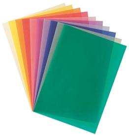 Folia 87409 - Transparentpapier A4 115 g 10 Blatt farbig sortiert -