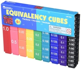 Fraction Tower Activity Set, Math Manipulatives, for Grades 1-6 -