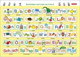 Fragenbär-Mini-Lernposter: Buchstaben und Laute von A bis Z, S 45 x 32 cm: stabiler Karton, folienbeschichtet, abwischbar (Lerne mehr mit Fragenbär) -