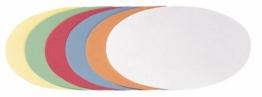 Franken UMZ 1119 99 Moderationskarten Ovale, 11 x 19 cm, 500 Stück, sortiert -