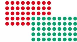 Franken UMZ P19/12 Moderationsklebepunkt (Kreis, 19 mm) 1000 stück, rot/grün -