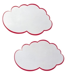 Franken UMZ W Moderations-Wolken, 25 x 42 cm, 20 Stück, weiß/rot -