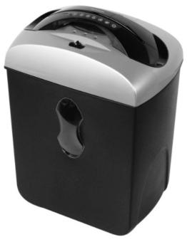 Genie 550 MXCD leiser Aktenvernichter (bis zu 5 Blatt, Mikro-Partikelschnitt-höchste Sicherheit, mit CD-Shredder) silber/schwarz -