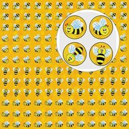 German Trendseller® - 100 x Sticker Bienen ┃ - Bienchen- ┃ -100 - Sticker - Set für Kinder -