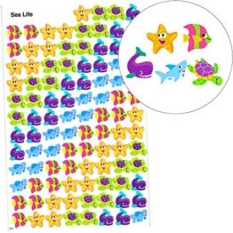 German Trendseller® - 100 x Sticker Seetiere ┃ - kleine Seetiere im Korallenriff - ┃ Kindergeburtstag ┃ 100 Sticker - im Set für Kinder -