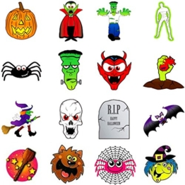 German Trendseller® - 36 Tattoo Set für Kinder ┃ Halloween ┃ Kinder ┃ Tattoos ┃ 36 Stück -