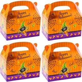 German Trendseller® - 8 er Set Happy Halloween Boxen mit Henkel zum Befüllen ┃ Geschenkebox mit Spinne ┃ Kindergeburtstag ┃ Mitgebsel ┃ Gastgeschenk ┃ Überraschungsboxen -