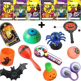 German Trendseller® - Halloween Mitgebsel ┃ inkl. Tütchen ┃ Überraschung für 6 Kinder ┃ 18 - Teilig -