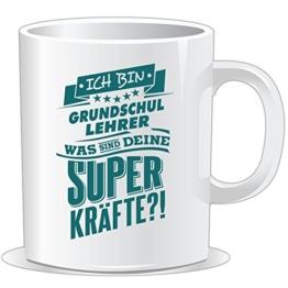 getshirts - RAHMENLOS® Geschenke - Tasse - Superpower Grundschul Lehrer - petrol - uni uni -