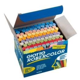 Giotto 5390 00 - RoberColor Wandtafelkreide, Karton mit 100 Stück farbig sortiert -