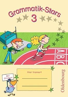 Grammatik-Stars: 3. Schuljahr - Übungsheft: Mit Lösungen -