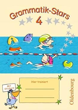 Grammatik-Stars: 4. Schuljahr - Übungsheft: Mit Lösungen -