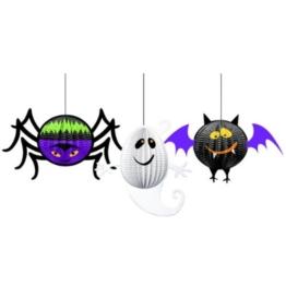 Hängedekoration Halloween, gruselige Freunde (3 Stück) -