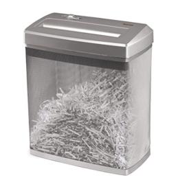 Hama Papierschredder Aktenvernichter (bis zu 7 Blatt, Kreuzschnitt, Schredder für Papier und Plastikkarten, Inkl. 14-Liter-Metallkorb) Shredder silber -