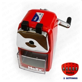 Helix Metal Desktop Pencil Sharpener - Red Body by Helix -