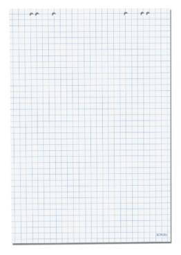 Herlitz 10834141 Flipchartblock, 68x99cm (kariert/gelocht), 5 Blöcke (20 Blatt je Block) -