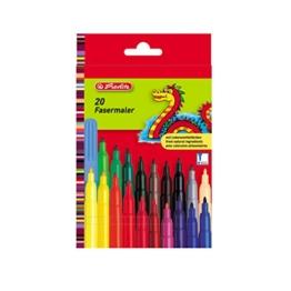 Herlitz 8649238.0 Fasermaler 20-er LB-Farben, medium -
