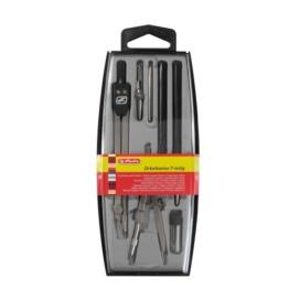 Herlitz 8710105 Zirkel (Büro), 223 mm, 140 mm silber -