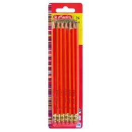 Herlitz 8850604 Bleistifte Scolair HB mit Tip 24 Stück FSC Holz, lackiert -