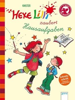 Hexe Lilli zaubert Hausaufgaben (Schreibschrift): Hexe Lilli für Erstleser -