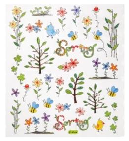 Hobby Design Sticker * Blumen und Zweige Frühling Ostern * Aufkleber 3452330 -