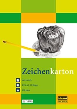 Idena 212065 Zeichenkarton extra stark, DIN A2, 250 g / m², 10 Bogen -