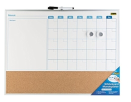 Idena 22317 Whiteboard Monatsplaner mit Pinnwand -