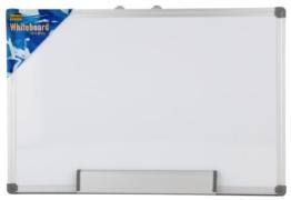 Idena 568019 - Whiteboard Alu-Rahmen, ca. 40 x 60 cm, mit Stiftablage -