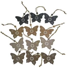 khevga 12 Deko Schmetterling Hänger Vintage 12er Set -
