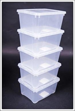 Klarsichtbox mit Deckel - 3 Größen - 3er und 5er Sets (20x16x10 - 5er Set) -