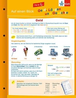 Klett Auf einen Blick: Geld, Längen und Gewichte (Die kleinen Lerndrachen) -