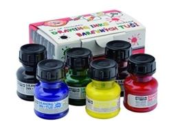 Koh-I-Noor 014173000000 Reihe von farbigen Zeichnung Tinten 6x20 g, ink set, 5.0 x 9.9 x 6.5 cm -