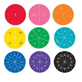 Learning Resources Doppelseitige MagnetBruchkreise in Regenbogenfarben, -