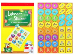Lehrer-Stickerbuch -