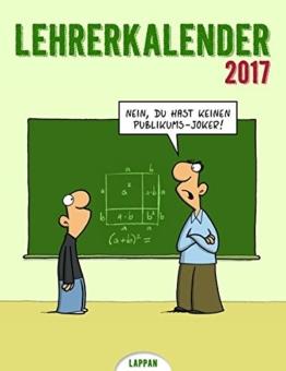 Lehrerkalender 2017: Wandkalender -