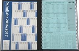 Lehrerkalender - Schulplaner LEO 2016-2017 DIN A4 + Leomappe schwarz - im Set +gratis: Wandkalender DIN A2 für das Schuljahr 2016-2017 -