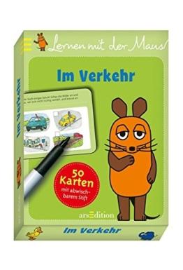 Lernen mit der Maus - Im Verkehr: 50 Karten mit abwischbarem Stift -