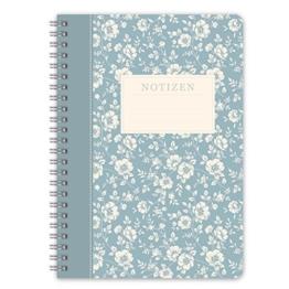 """LifeDesign Notizbuch Notizheft Spiralbuch """"Trentino"""" DIN A5 120 Seiten creme liniert Softcover -"""