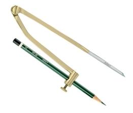 Linex Zirkel mit Bleistift 83008 Spannweite 203 mm / 8 Zoll -